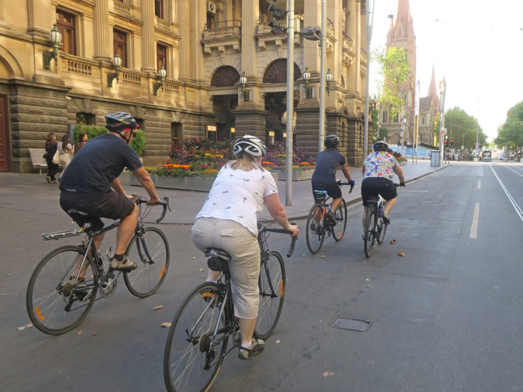 The ride home along Swanton St - Melbourne Town Hall